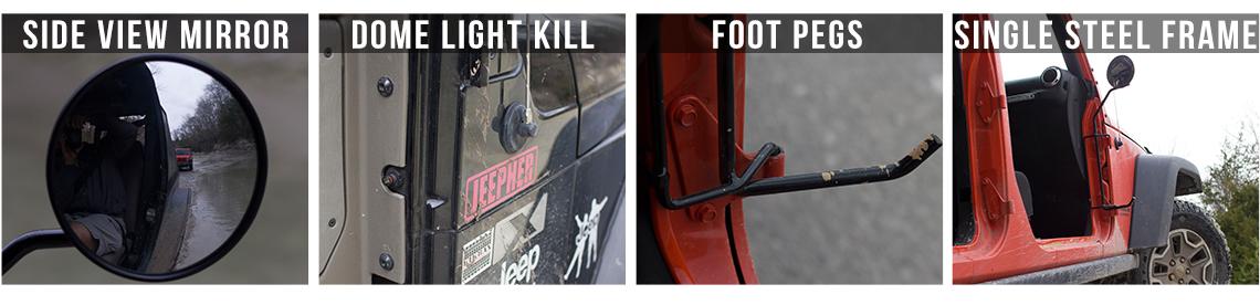 Jeep Foot Pegs Kikbax Offroad